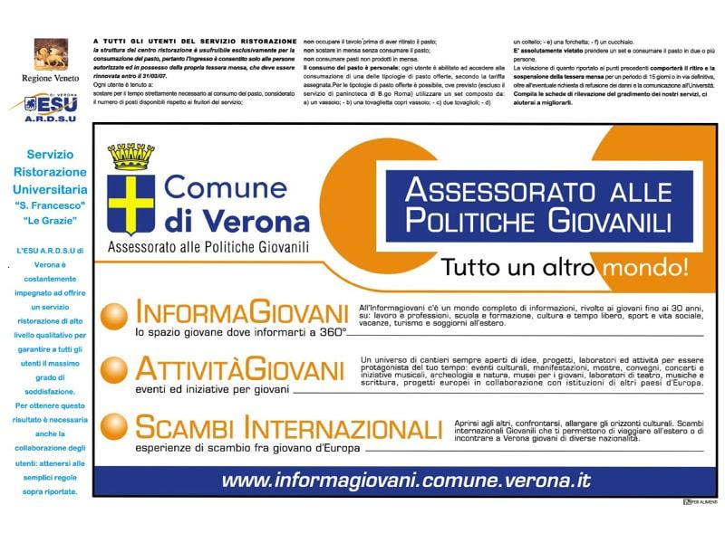 Tovaglietta Esu Comune di Verona
