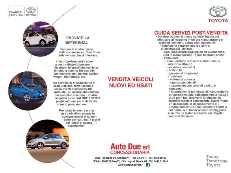 Tovaglietta Toyota Autodue